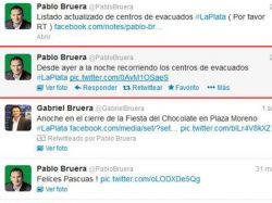 Intendente tuiteó que asistía a evacuados pero mintió