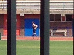 Pistorius volvió a entrenar