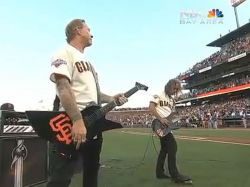 Enérgica versión de Metallica al himno de Estados Unidos