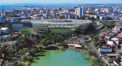 Lluvia colapsó techo de estadio donde jugará Uruguay