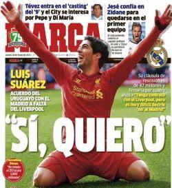 En España dan como un hecho pase de Suárez a Real Madrid
