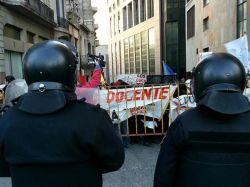 Acto del 18 de julio: plaza cerrada y protestas sindicales