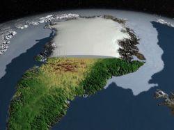 Descubren cañón bajo el hielo en Groenlandia