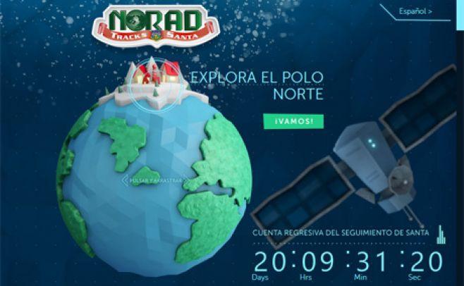 Esta Navidad, a Papá Noel se lo podrá seguir en 3D
