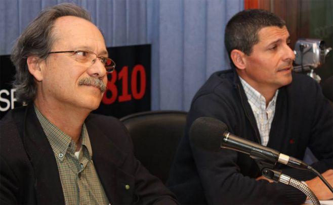 Gerardo Evia (coordinador general de Vaquer�a del Este) y Javier Tar� (coordinador de embarques de Vaquer�a del Este).