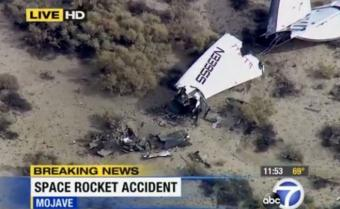 Se estrelló la nave espacial Virgin Galactic: un muerto