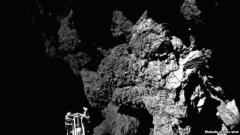 La primera foto del cometa