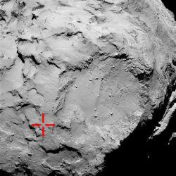 Foto del lugar donde se pos� el Philae. Foto: esa.int