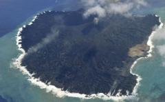 Isla nipona aumenta por nueve su tamaño tras erupción