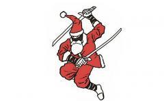 Un ninja navideño