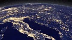 Así se ven las luces de las fiestas desde el espacio