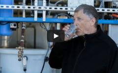 Bill Gates probó agua potable proveniente de heces
