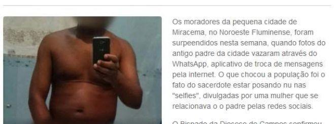 Brasil: cura suspendido por posar desnudo en redes sociales