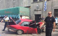 Aparatoso choque en zona de acceso a Montevideo