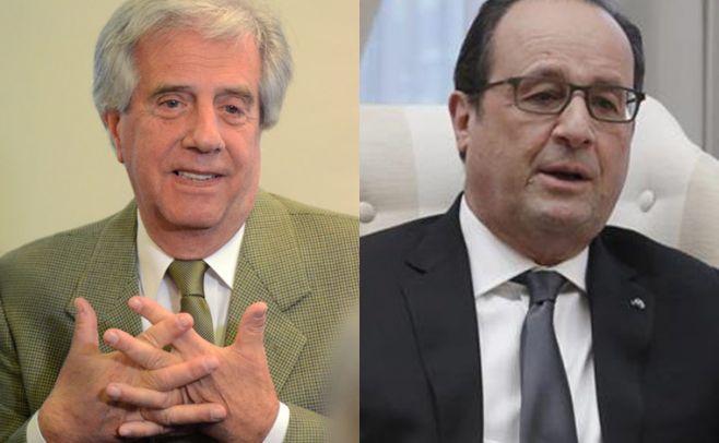 Vázquez-Hollande: el encuentro de dos presidentes masones