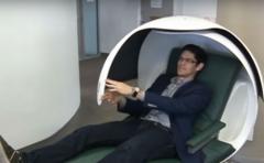 ¿Cómo es la cápsula para dormir una siesta entre clases?