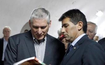 Vicepresidente de Cuba recibió a Sendic en La Habana