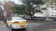 Caos en el centro de Montevideo por paro de taxis