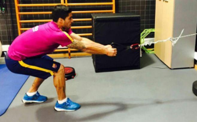 Luis Suárez se entrena con todo pensando en la Copa