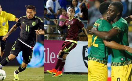 Así llegan los rivales celestes: México, Venezuela y Jamaica