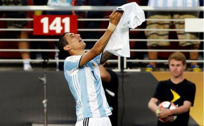 Emotivo llanto de Di María tras triunfo argentino