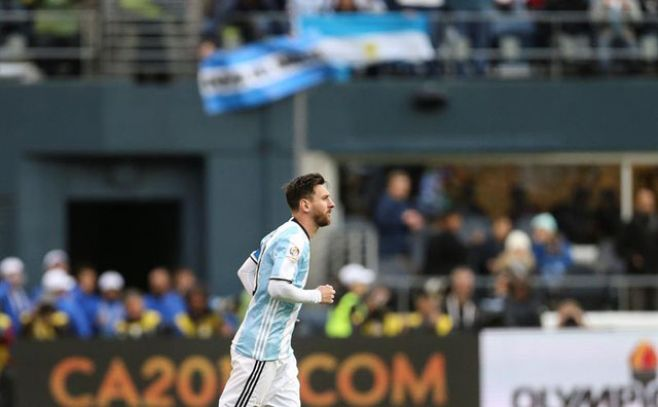 Messi está a un solo gol de ser el máximo goleador de la selección argentina.. EFE