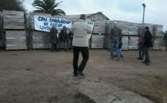 Reclusos donan 15 mil bloques para reconstrucción de Dolores