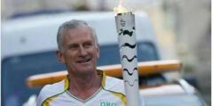 Roy Harley llevó la antorcha Olímpica