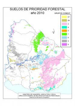 Suelos de Prioridad Forestal año 2010