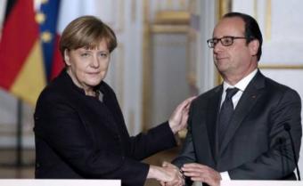"""Merkel a Hollande: """"juntos derrotaremos al terrorismo"""""""