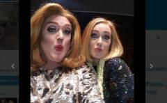 Adele invita a subir al escenario a uno de sus imitadores