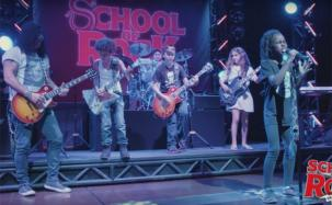 "Slash tocó con los chicos del musical ""School of rock"""