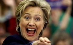 Hillary Clinton se saca selfies con estrellas de Hollywood