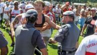 Hinchas del Sao Paulo enojados, los paró Lugano