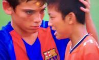 Barcelona infantil conmueve al mundo con un gran gesto