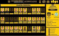 Convocados de Peñarol para enfrentar a Plaza Colonia