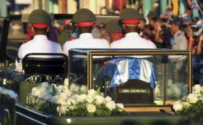 Fue enterrado Fidel Castro
