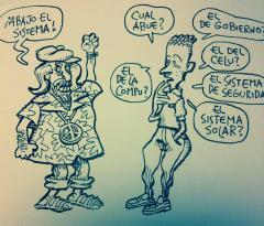 """Alvaro Alcuri, """"TODOS CONTRA EL SISTEMA"""" una consigna global, muy políticamente correcta."""