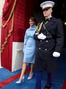 El look elegido por Melania Trump para la asunción