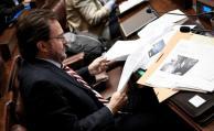 Germán Cardoso durante la interpelación a Bonomi en cámara de Diputados del Palacio Legislativo.