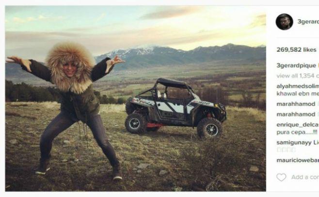Gerard Piqué y Shakira disfrutan de una divertida escapada a la nieve