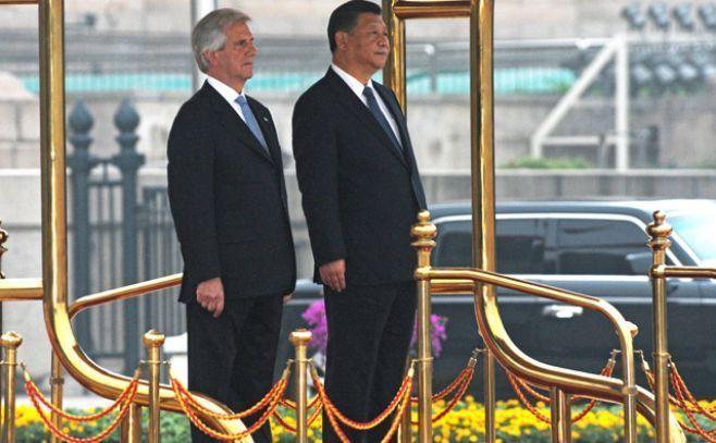 Vázquez junto all presidente chino, Xi Jinping..