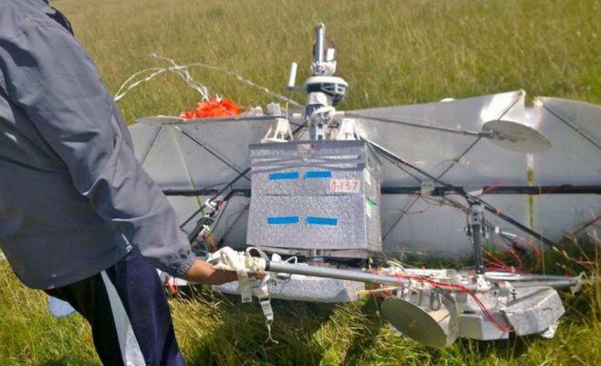Otro globo del proyecto Loon de Google aterrizó en Uruguay. Foto: Facebook Enrique Puentes