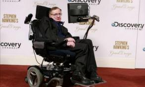 Un holograma de Stephen Hawking da conferencia en Hong Kong