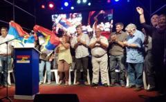Así celebró el Frente Amplio, a 46 años de su primer acto público