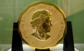 Robaron moneda de oro de un millón de dólares