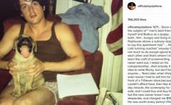 Stallone recuerda a su perro con el que escribió 'Rocky'