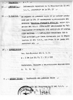 Testimonio de Eleuterio Fernández Huidobro a las autoridades militares. (Facsímil)