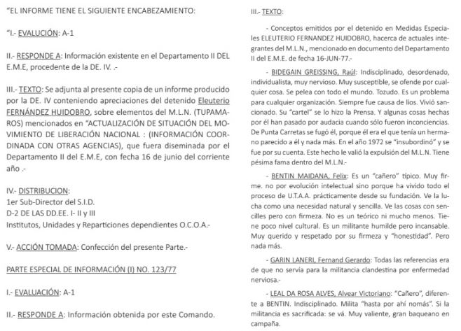 Testimonio de Eleuterio Fernández Huidobro a las autoridades militares. (Facsímil). (C)