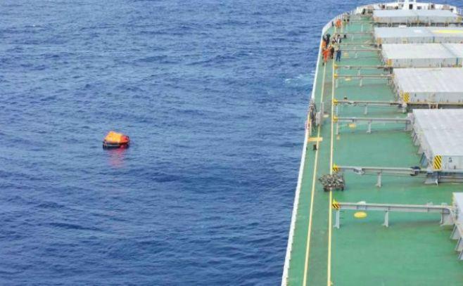 Corea inspeccionará zona en la que naufragó el carguero